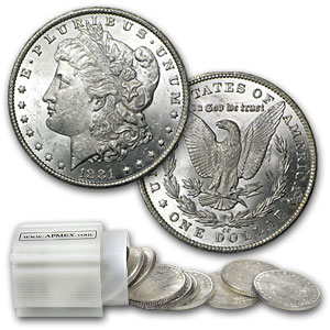 1881-CC Morgan Dollar - Brilliant Uncirculated Roll 20 Coins